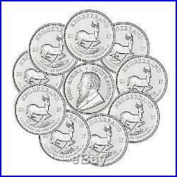 10 x 1 Oz Silber Krügerrand 1 Rand 2017 Südafrika 50 Jahre Jubiläum Krugerrand