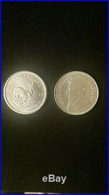 10 x Krugerrands silver 1oz BU coins year 2019