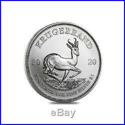 10 x Silver Krugerrands 1oz. 999 2020 Immaculate condition