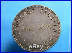 1895 ZAR Kruger Silver South Africa Delagoa Bay Railway Medal (0223)