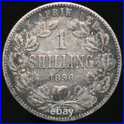 1896 South Africa 1 Shilling'Engraved''Trench Art' Silver KM Coins