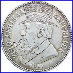 1896 ZAR South Africa Paul Kruger silver 2 and half shilling coin Anglo Boer War