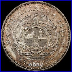 1897 South Africa Silver 2 1/2 Shillings KM. 7 NGC MS 61