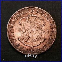 - 1923 Union of South Africa George V Silver Florin FDC Proof only 1,402 minted