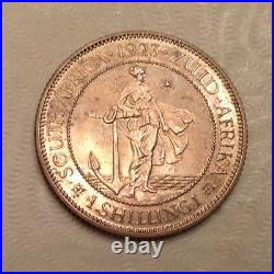 - 1923 Union of South Africa George V Silver Shilling Proof only 1,402 minted