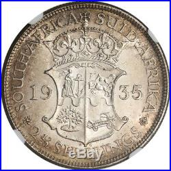 1935 South Africa Silver 2 1/2 Shillings 2.5S NGC MS63