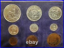 1947 South Africa 9 Coin Proof Set Rare
