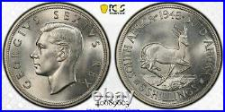 1948 South Africa 5 Shillings George VI PCGS MS65