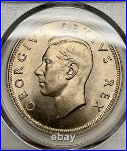 1949 South Africa 5 Shillings PCGS PL67 Silver Registry Coin KM 40.1