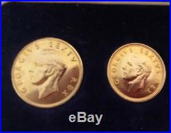 1952 SOUTH AFRICA GOLD 1 & 1/2 Gold Pound & SILVER George VI 11 COIN SET PROOF