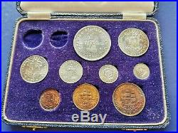 1952 SOUTH AFRICA Proof Set of 9 Coins in Original Box