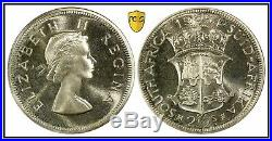 1954 South Africa 2.5 Shillings PCGS PR66 Proof Silver Half Crown 3,150 Minted
