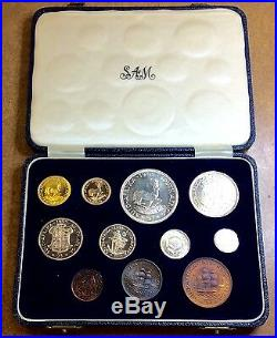1955 SOUTH AFRICA 1 & 2 RAND. 35 oz gold & SILVER PROOF SET only 600 MINTAGE