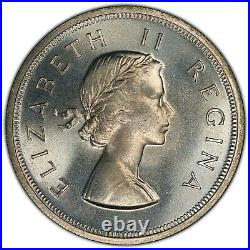 1955 South Africa 5 Shillings PCGS PL67 Silver Crown Sized Registry Coin KM52