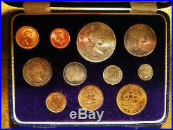 1955 South Africa Gold + Silver Long 11-coin Proof Set (mintage 600) Rare