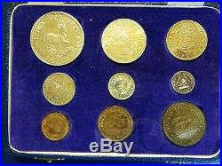 1959 Proof Set South Africa 9 coins