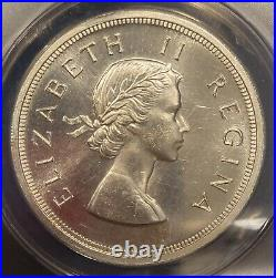 1959 South Africa 5 Shillings THE Key Date ANACS PL66 6K minted only 2200 PL
