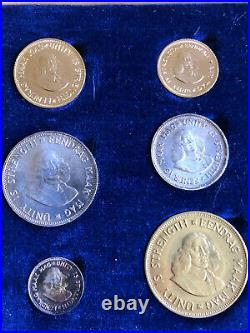 1961 South Africa Gold 1-2 Rand & Silver Coin Set Pound Proof 3100 Mintage