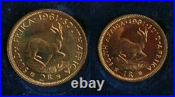 1961 South Africa Long Proof Set gold and silver LOW MINTAGE