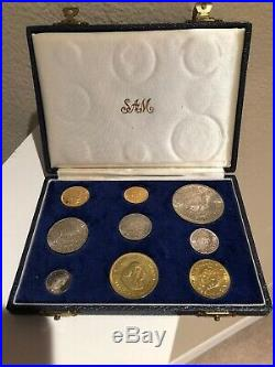 1964 South Africa Gold 1-2 Rand & Silver Coin Set Pound Proof 3000 Mintage