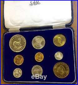 1964 South Africa Gold 1 & 2 Rand & Silver Proof Set 3000 Mintage