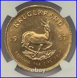 1967 1KR South Africa Gold Krugerrand NGC MS66