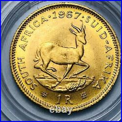 1967 1R 1 Rand Gold Coin South Africa