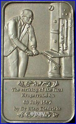 1967 -2007 Sterling Silver 42 Gram Krugerrand 40 Year Anniversary Rare Bar