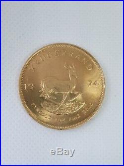 1974 1oz full gold Krugerrand