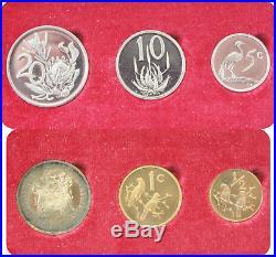 1974 KRUGGERAND 10-COIN SET 2 Rand, 1 Rand Gold, 1 Rand Silver, 50-1/2 Cents
