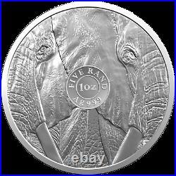 1 Ounce Fine Silver Big Five Elephant South Africa 2019 Blister Elephant Silver