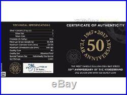 1 oz + 2 oz Set 50th Anniversary Krugerrand Krügerrand Südafrika Silber 2017