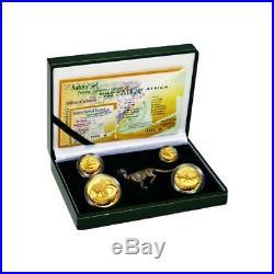2000 1.85 oz Proof Gold South Africa Natura Cheetah Set (with Silver Cheetah)