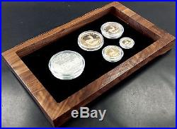 2003 Tiffany Diamond Krugerrand Set! Four gold coins! One silver coin withDiamond
