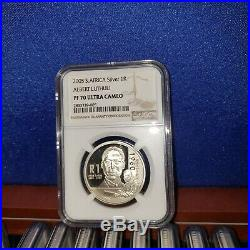 2005 south africa SILVER 1 RAND NGC PF70 ALBERT LUTHULI R1 S1R