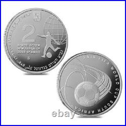 2009 Israel Gold/Silver FIFA World Cup South Africa 3-Coin Set (withBox & COA)