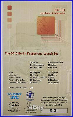 2010 Berlin Krugerrand Launch Set South Africa Gold Silver PF70UCAM PF68UCAM NGC