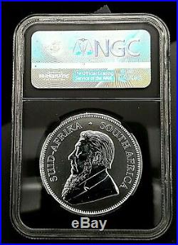 2017 1st EVER S AFRICAN 50TH ANNIVERSARY SILVER KRUGERRAND NGC SP 70 CERT FDOI