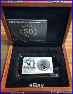 2017 3 oz 50th Anniversary South Africa Krugerrand 1 oz Coin + 2 oz Bar #J8