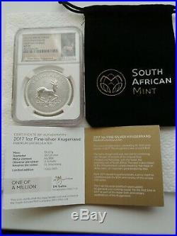 2017 Krugerrand Premium- FDOI Silver NGC SP70 50th Anniversary