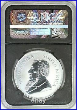 2017 NGC South Africa 1Rand First Silver Krugerrand 50th Anniv SP70 Black Core