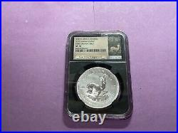 2017 S. AFRICA 1RAND 50TH ANNIVERSARY SILVER KRUGERRAND NGC SP70 1ST Day b14c