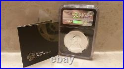 2017 S AFRICA SILVER KRUGERRAND FDI (First Day Of Issue) NGC SP69 Black Core