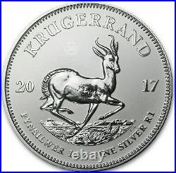 2017 S. Africa LOT of 10 -1oz Silver Krugerrand 1st GEM Prem BU 50th Privy Mk COA