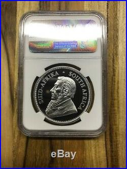 2017 Silver Krugerrand Proof 50th Anniversary Coin Graded PF 70 UC By NGC