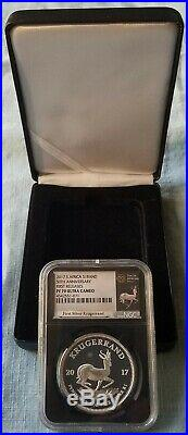2017 Silver Proof Krugerrand NGC PF70 UC FIRST RELEASES 50th Anniversary ALL OMP