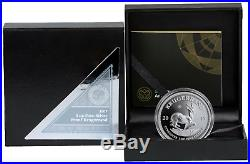 2017 South Africa 1 oz Fine Silver Krugerrand Proof Coin 50 Anniversary COA OGP