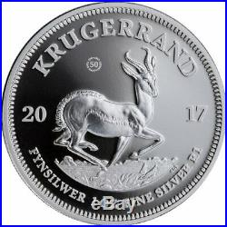 2017 South Africa 1 oz Silver Krugerrand Proof COA# 4850 Full OGP & COA incl