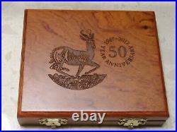 2017 South Africa 3 oz 50th Anniversary Silver Krugerrand 1 oz + 2 oz set