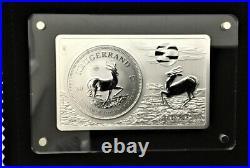 2017 South Africa 3 oz Silver 50th Anniv Krugerrand Coin & Bar Set WithCOA & CASE